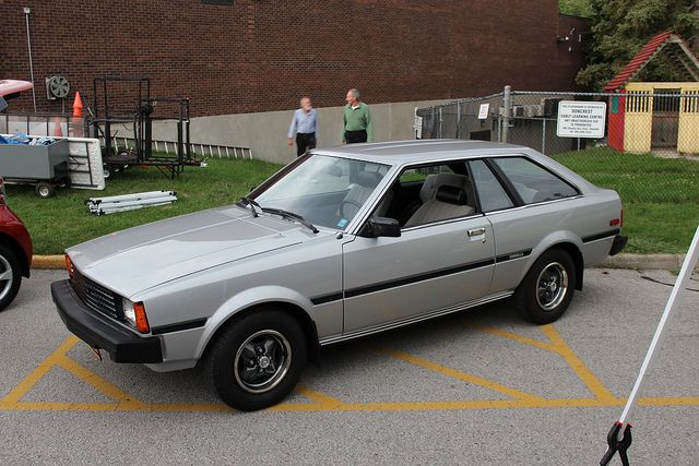 1982 Toyota Corolla SR-5 hatchback. Mine was rootbeer brown. :o)