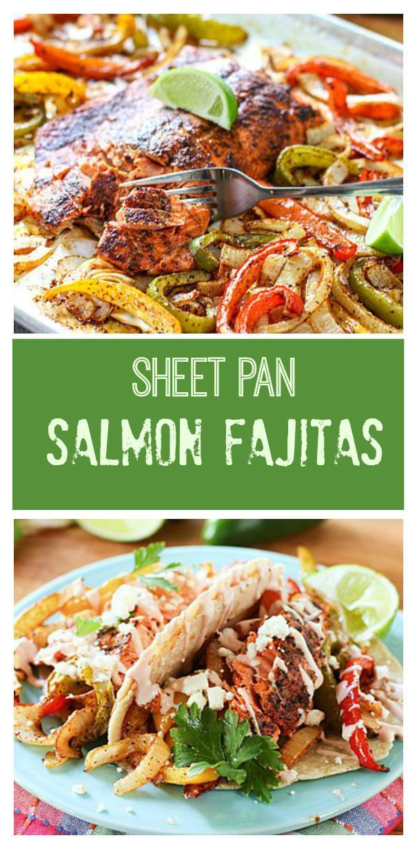 online fashion designer Sheet Pan Salmon Fajitas