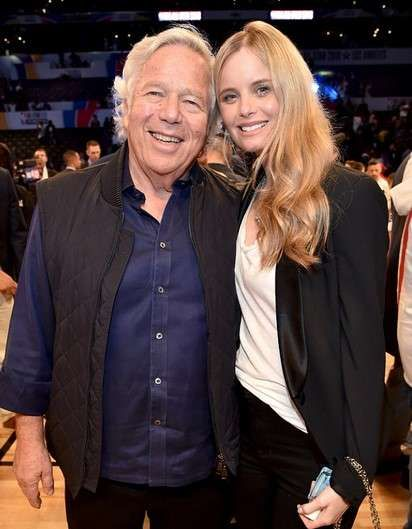 Robert Kraft and his girlfriend Ricki Noel Lander pictures,he is not their baby's biological father