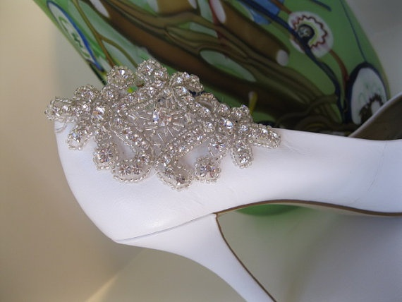 Rhinestone Applique Shoe ClipRhinestones Shoes, Rhinestone Shoes, Shoes Fettish, Appliques Shoes, Shoes Clips, Bridal Shoes