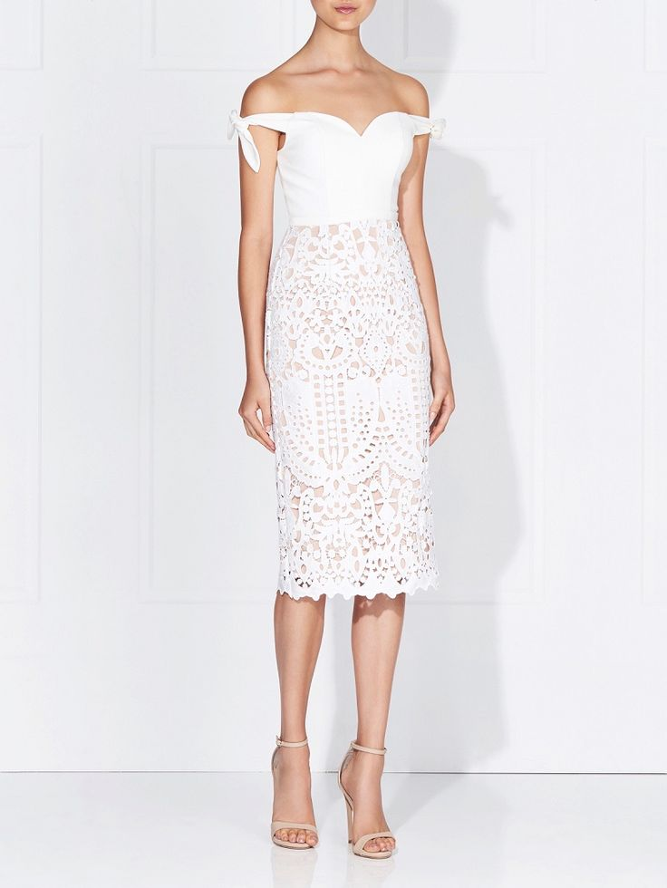 Love Honor - Audra Lace Dress French Navy