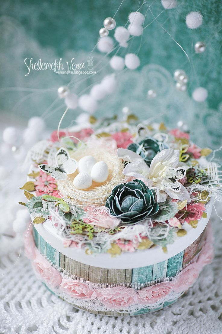 ScrapBerry's: spring is coming soon; a box by Vera Shelemekh, Primavera collection