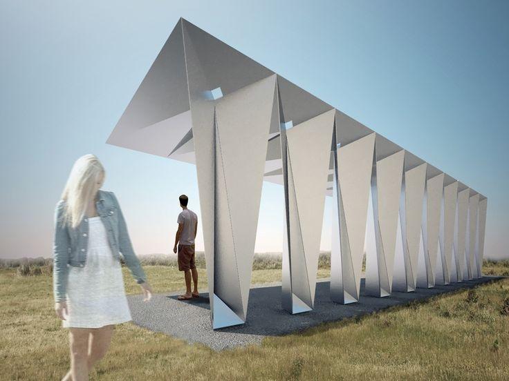 die besten 25 origami architektur ideen auf pinterest papierfaltung papierarchitektur und. Black Bedroom Furniture Sets. Home Design Ideas