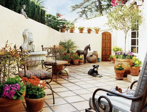 Mediteranian Garden Style at Home1 by Image for Bhousedesain 2, via Flickr