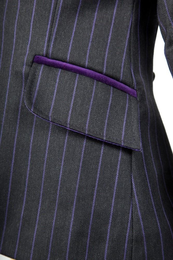 Children S Purple Pinstripe Show Jumping Jacket Horse
