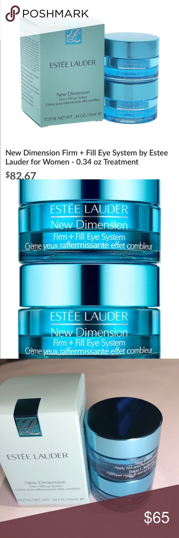 Estée Lauder new dimension firm+ Fill eye system Estée Lauder new dimension firm+ Fill eye system. Brand new 100% authentic total is 3.4 oz Estee Lauder Makeup Face Primer