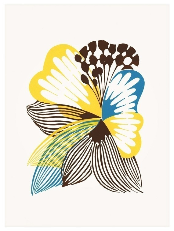 The Clouded Yellow - Art Print #print #flower