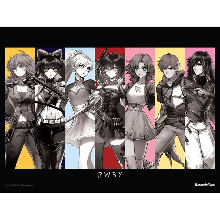 """The Marvelous Seven RWBY Poster - 18"""" x 24"""""""