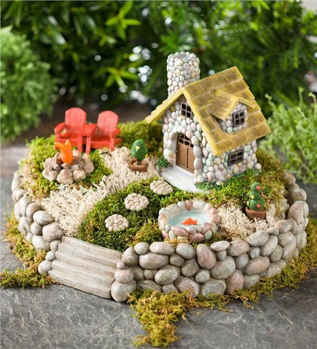 Miniature Fairy Garden Starter Kit | Beautiful and Cheap DIY Project for Spring by DIY Ready at http://diyready.com/fairy-garden-ideas/