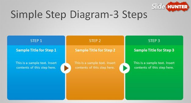 3 step diagram powerpoint Places to Visit Pinterest - sample product description template