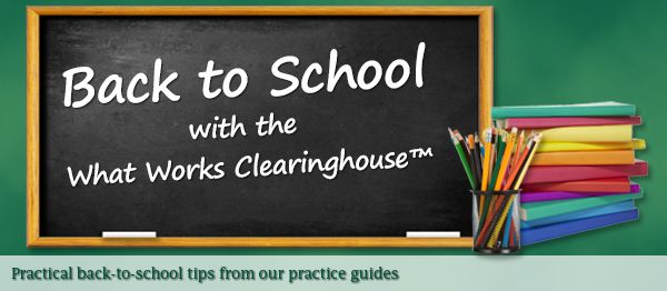 !!! US site with evidence based info on what works in education !!! What Works Clearinghouse