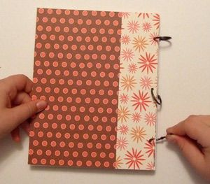 DIY Chipboard Mini Scrapbooks with Ring Binding: Add the Binding Rings