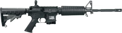 MPC R16M4FTRFT-C   This is a RESTRICTED firearm that must be transferred to the purchaser through a FFL dealer. Chambered in 5.56 NATO Barrel: 16 in. heavy profile; chrome lined with A2 flash suppressor; 4150 Chrome Moly Vanadium steel. Rifling: 1 in 9 in. right hand twist Includes: (1) 30 round magazine; hard plastic case, black webbing sling, and operators manual. Direct gas impingement operation. Semi-auto only.