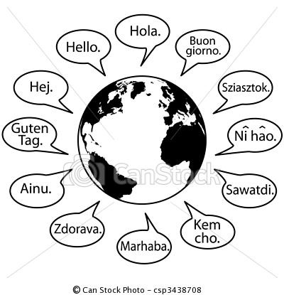 dit zijn namen van delanden die hallo zeggen tegende wereld