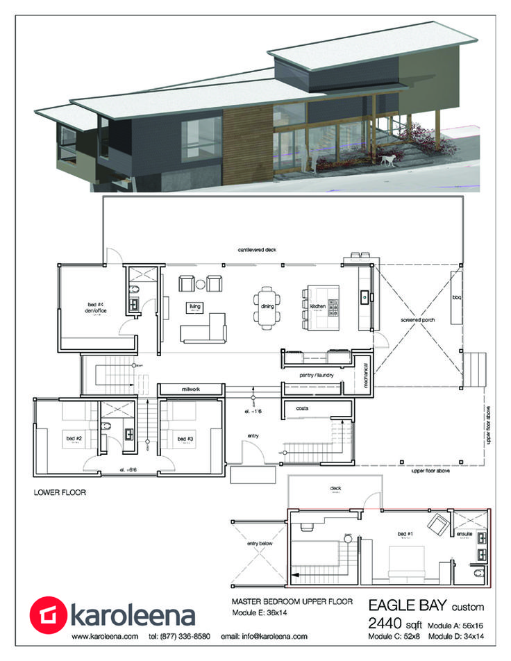 modern modular custom home designs prefab custom homes - Modern Custom Home Designs
