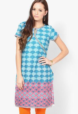 Blue Printed Kurtas Dress up your summer sensibility wearing this kurtaby Aurelia. Designed with absolute perfection, thiscotton kurta issoft against the skin and will keep you at ease. Team it with a salwar or churidar in lighter or brighter hues to create a contrasting effect. http://jbo.ng/Ms14ABu