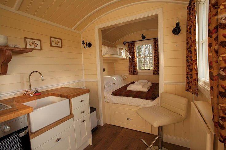 Shepherd hut interior - tempting!