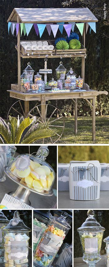 Great idea for party   I HAVE A WHITE CART JUST LIKE THIS !!!