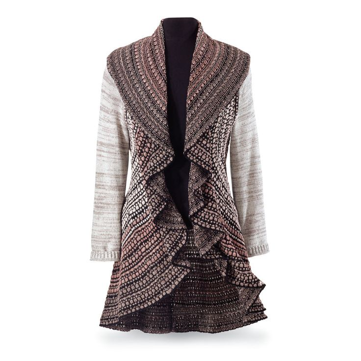 Ombre Waterfall Sweater Coat - Women's Clothing & Symbolic Jewelry – Sexy, Fantasy, Romantic Fashions