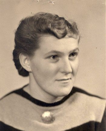 "Hermine Braunsteiner, female camp guard in Ravensbrück and Majdanek, nicknamed ""The Stomping Mare"" because of she killed women by stomping on them with her steel-studded jackboots."