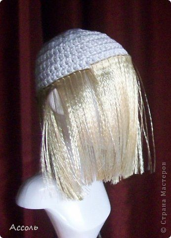 Мастер-класс Вязание крючком Шитьё Меняем прическу или Как сделать парик кукле МК Ленты Нитки фото 8