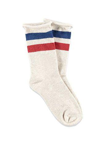 Varsity-Striped Crew Socks | Forever 21 - 2000173030