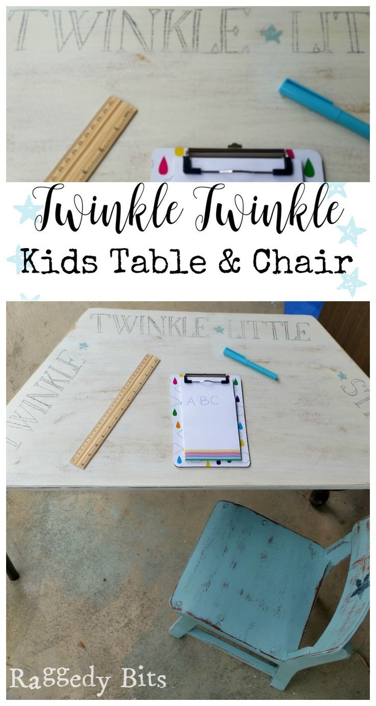 Kids furniture is one of my favourite furniture to give a new lease on life. I transformed a garage sale find into a Twinkle Twinkle Kids…
