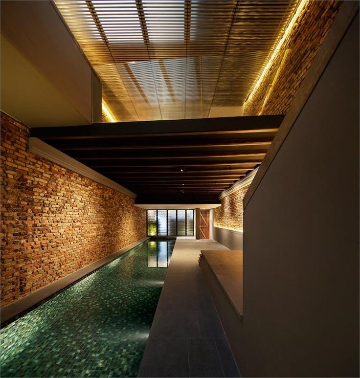 The Pool Shophouse, Singapore, 2012 by  Farm  #house #pool #singapore