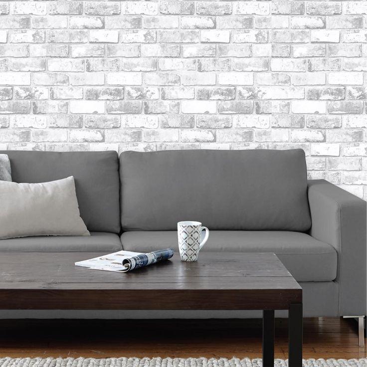Les 25 meilleures id es concernant papier peint effet brique sur pinterest - Tapisserie effet brique ...