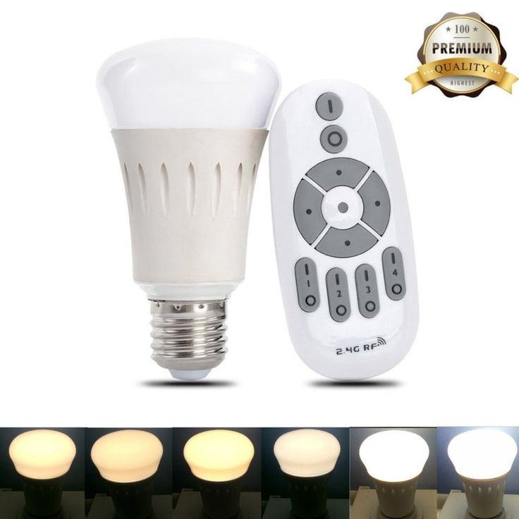 """You can dim them AND change the color temperature, too!Get it from Amazon for $17.99.Promising review: """"Great product. Does just what I wanted it to do. I just ordered two more. I just moved into a new place, and in my bedroom, there are no outlets near where I put my bed, and the light switch is on a far wall. It's a huge room, and it gets pitch black when I turn out the lights. This gave me a way to turn the lights on/off from bed. It even dims, which is a feature I had forgotten it even…"""