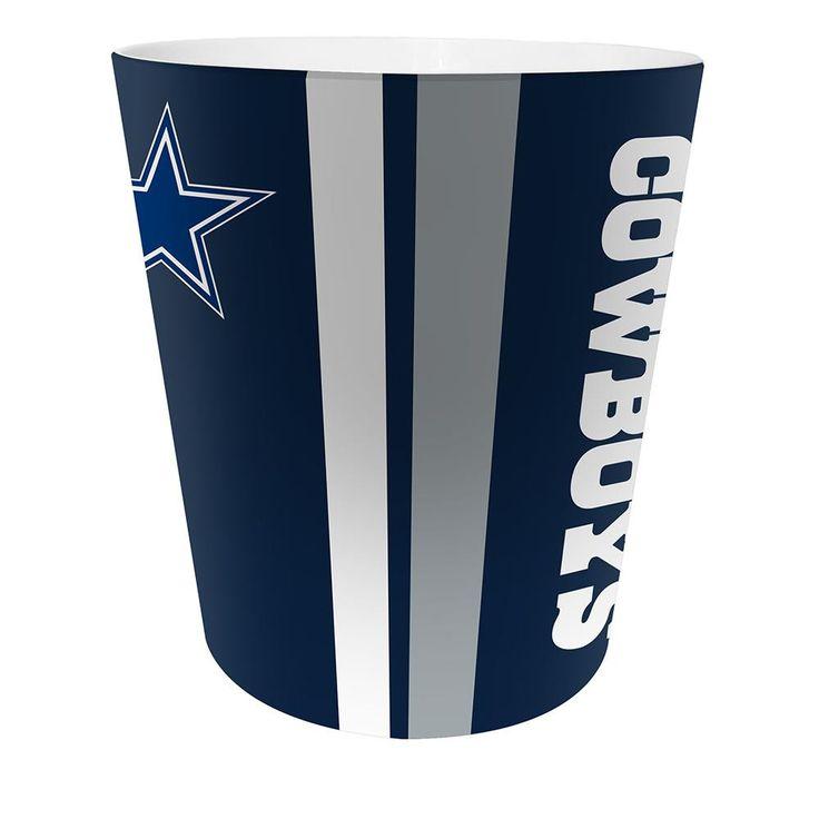 """Dallas Cowboys Nfl 10"""" Bath Waste Basket"""