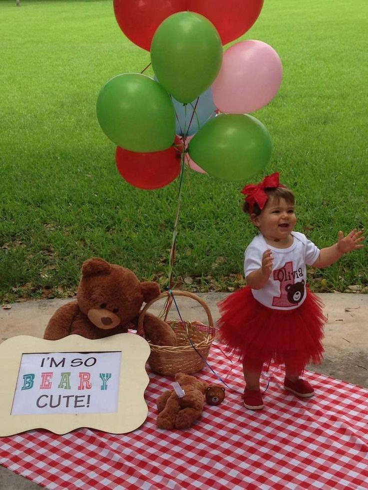 Olivia's Teddy Bears' Picnic 1st Birthday Party | CatchMyParty.com