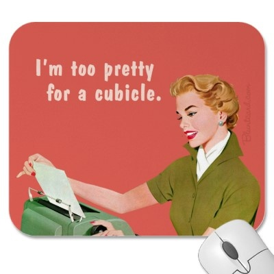 She's too pretty for a cubicle. accede.com.au