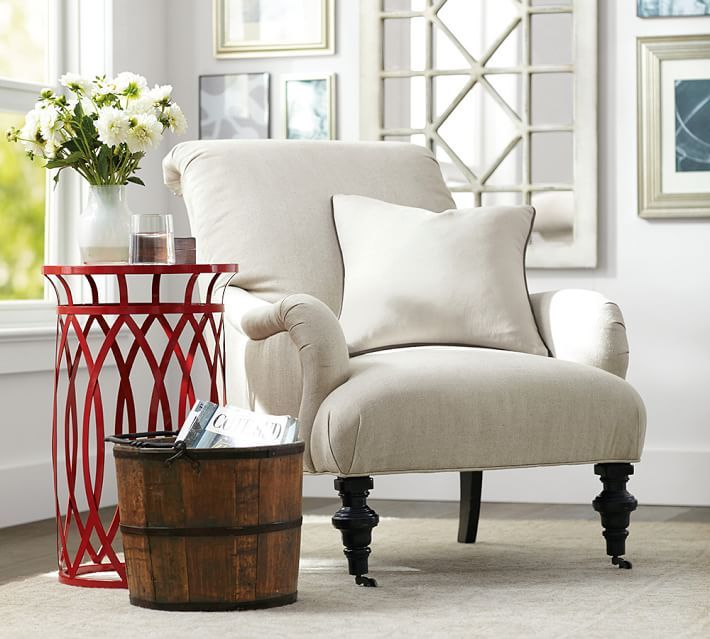 Create Your Own Cozy Corner With A Classic And Detailed Upholstered Fabric  Armchair. Use One