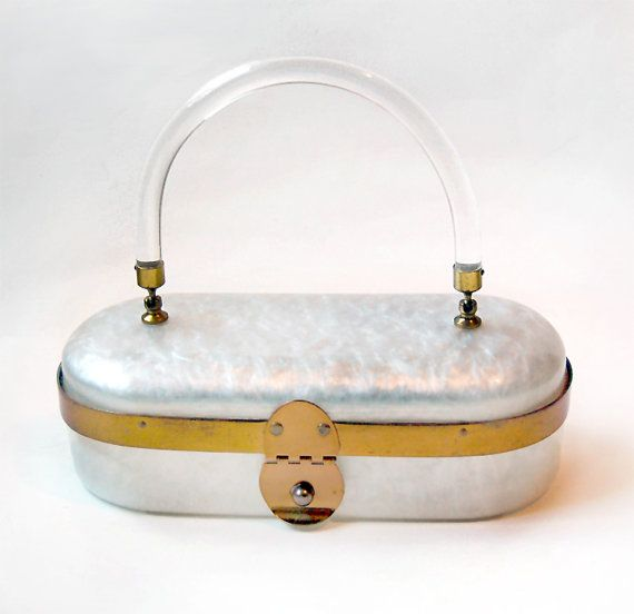 Lucite Purse / Lucite Bag / Vintage 50s by minxouri on Etsy, $79.00