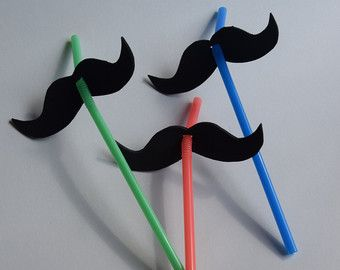 Mario Birthday Party Favor Hats and Mustaches (Set of 6)