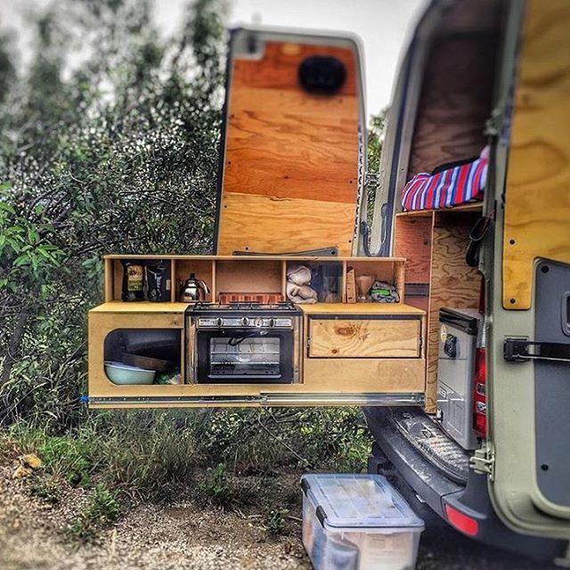 @kris_lunning Some people like to cook inside. I like to cook outside. Slide kitchens from under the bed. Email vanlifefitouts@gmail.com if you are looking for an innovative & compact setup. Nothing is impossible #vanlifediaries You are the change.  @theeveningson