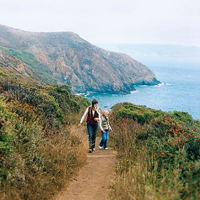 Just across the Golden Gate Bridge from San Francisco, the Marin Headlands offer shoreline views, crashing surf, and a surprising wildness. ...