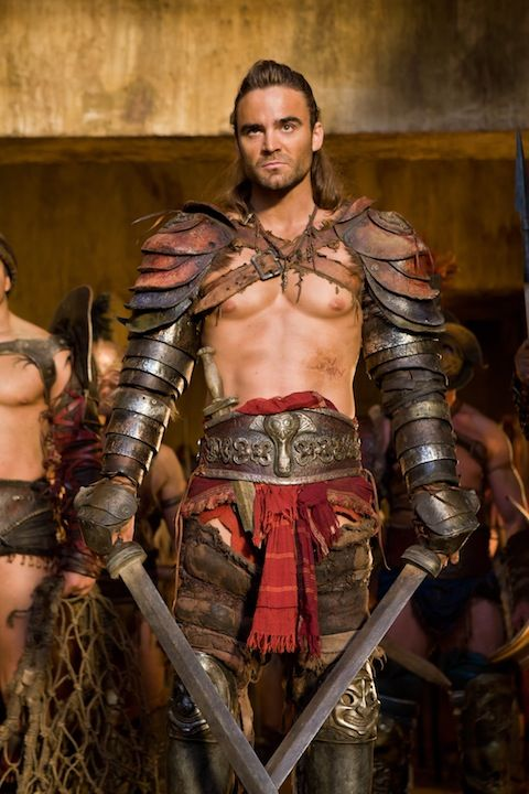 I <3 the leather arms but the bare torso renders this into the male equivalent of a chain maille bikini. - Gannicus From 'Spartacus: Vengeance'
