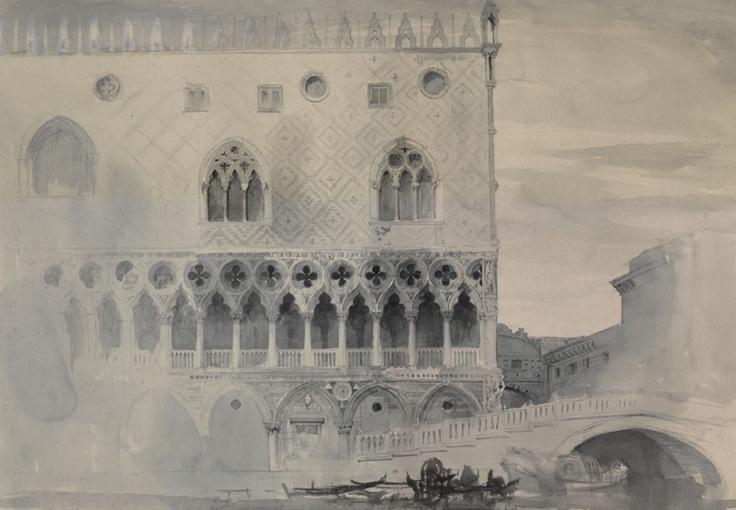 Ruskin's Elements of Drawing: Ruskin Teaching, Drawings, Palaces Venice, Ruskin Study, Doge Palaces, Architecture Study, Ducal Palaces, Architecture Graphics, John Ruskin Venice