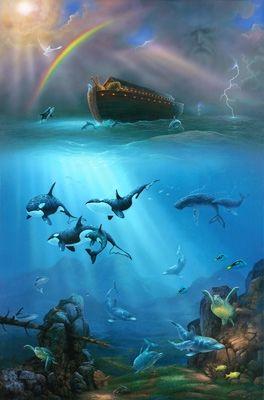 """""""Então Deus lembrou-se de Noé, de todos os seres vivos, e todos os animais que estavam com ele na arca. E Deus fez passar um vento sobre a terra, e as águas começaram a diminuir."""" ~ Genesis 8: 1"""