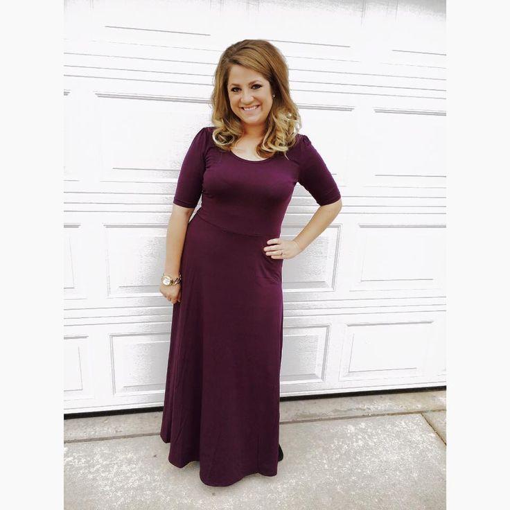 Lularoe Ana dress. The plum color is absolutely stunning. My favorite LulaRoe dress!