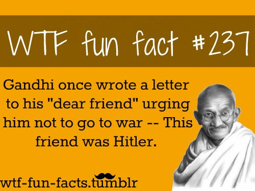 "Gandhi's letter to his ""dear friend"" 