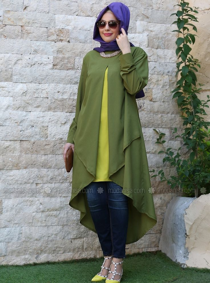 Tunic - Green - Nesrin Emniyetli | giyim | Hijab fashion ...