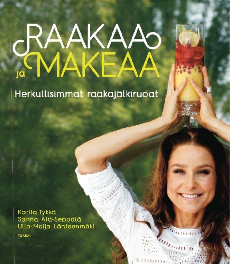 Karita Tykän uusi raakajälkiruokakirja #karitatykka #raakaruoka #rawfood #raakasuklaa #rawchocolate #kirja #book