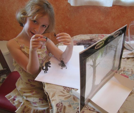 Tabletop Shadow Puppet Theatre by ShadowPuppetStories on Etsy