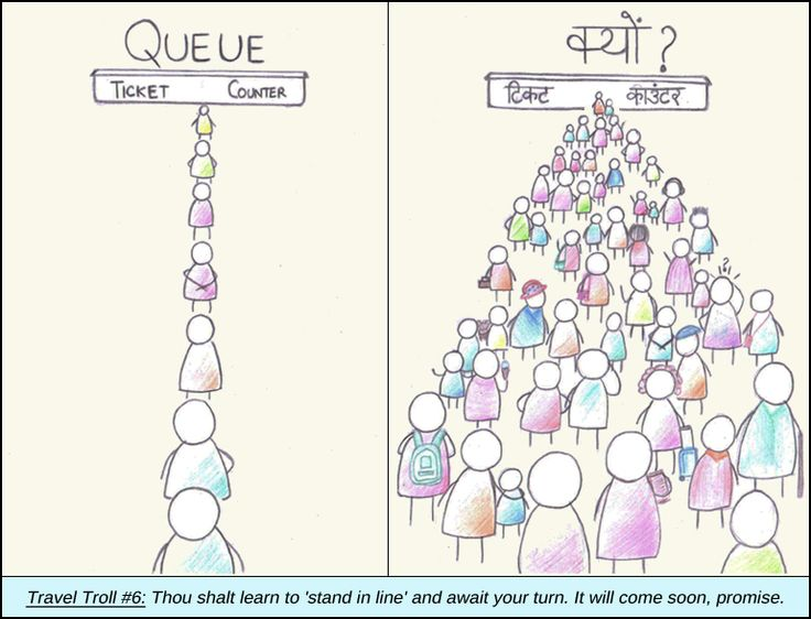 Indian #Travel Troll 6: Queuing up – India vs Rest Of The World #humour