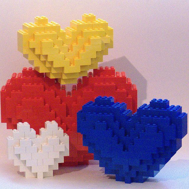 LEGO Hearts by Bill Ward's Brickpile valentine