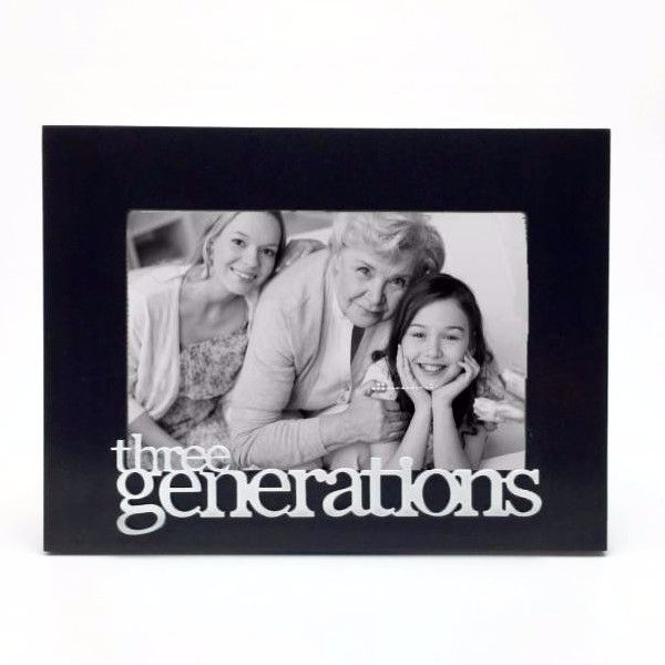 three generations table top picture frame