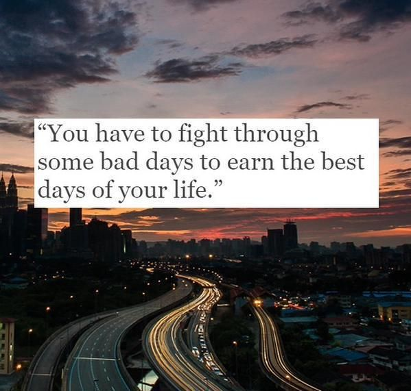 Never quit the fight!